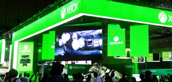 Microsoft booth at TGS 2015